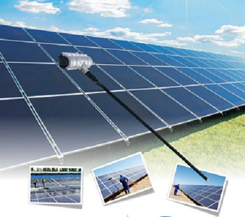 Solar panel cleaning kits